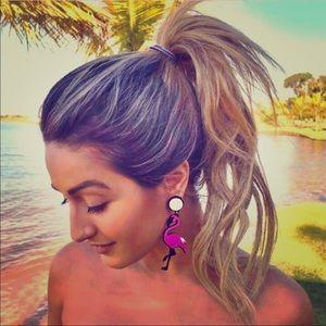 Flamingo acrylic earrings